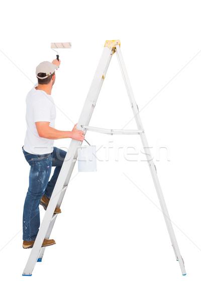 Ezermester mászik létra festék festmény szolgáltatás Stock fotó © wavebreak_media