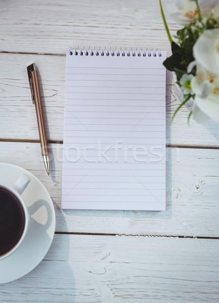 Stockfoto: Shot · notepad · bureau · business · kantoor · pen