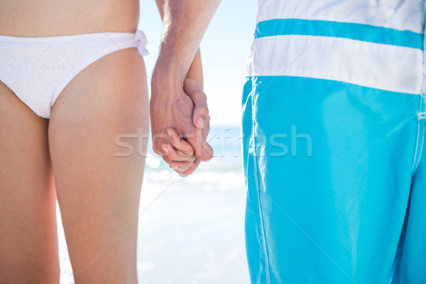 Pár sétál kéz tengerpart nő férfi Stock fotó © wavebreak_media