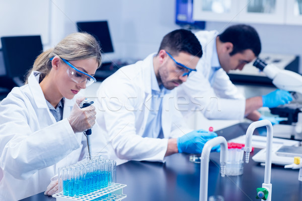 Bilim Öğrenciler çalışma kimyasallar laboratuvar üniversite Stok fotoğraf © wavebreak_media