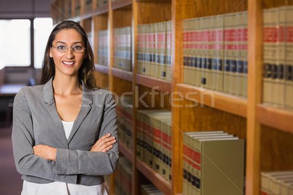 Ziemlich Rechtsanwalt Recht Bibliothek Universität Buch Stock foto © wavebreak_media