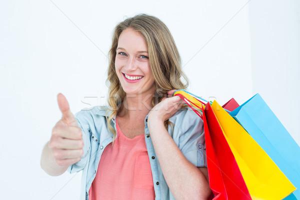 Woman holding some shopping bags Stock photo © wavebreak_media