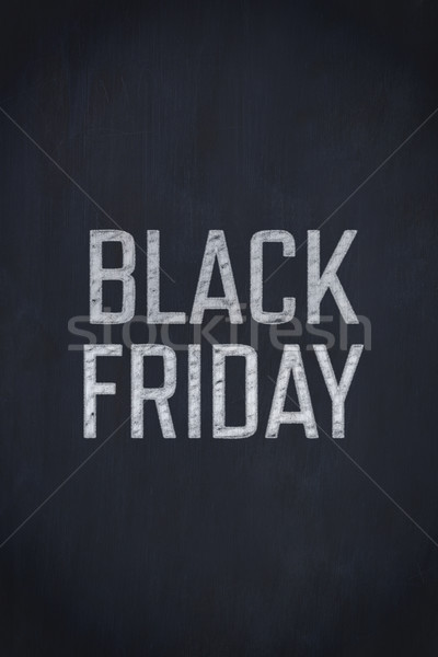 Stock photo: A black friday advert