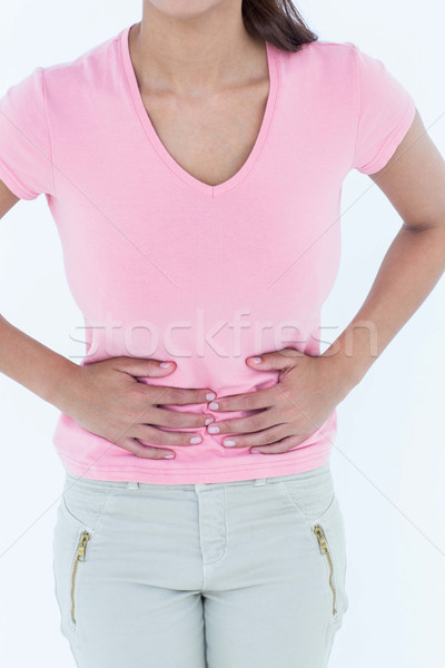 Mulher sofrimento dor de estômago branco feminino rosa Foto stock © wavebreak_media