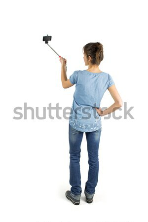 Casual brunette taking a selfie Stock photo © wavebreak_media