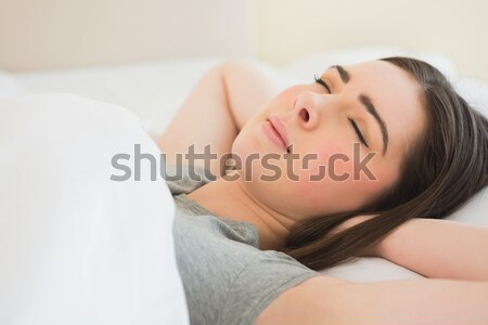 Sick woman touching her forehead  Stock photo © wavebreak_media