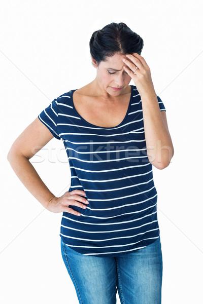 печально женщину голову белый здоровья Сток-фото © wavebreak_media