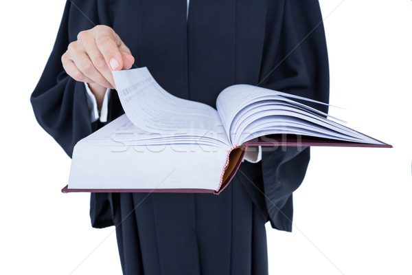 Happy handsome lawyer holding labor code Stock photo © wavebreak_media