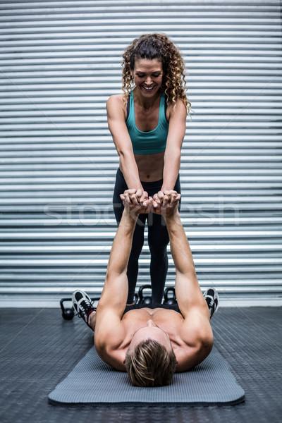筋肉の カップル コア crossfitの ジム 女性 ストックフォト © wavebreak_media