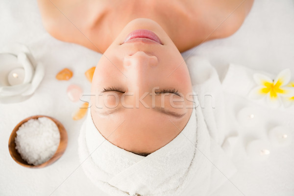 Relaxed woman lying on the massage table Stock photo © wavebreak_media