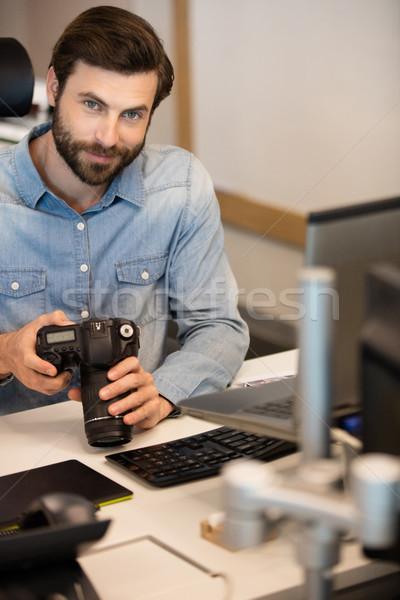 Profissional fotógrafo sessão criador escritório retrato Foto stock © wavebreak_media