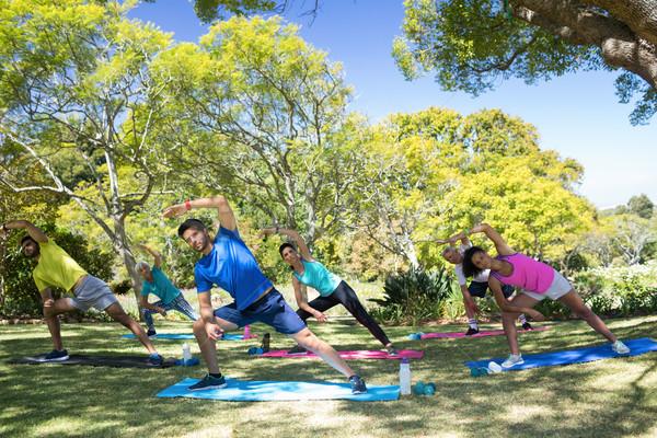 Grupo de personas realizar ejercicio parque Foto stock © wavebreak_media