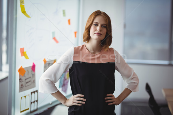 Portrait of confident executive standing with hands on hip Stock photo © wavebreak_media