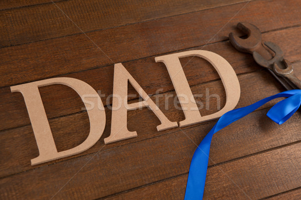 Dad text by wrenches on table Stock photo © wavebreak_media