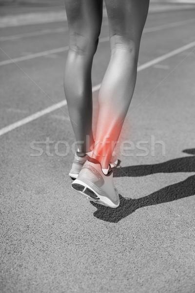 Alacsony részleg sportoló sétál útvonal napos idő Stock fotó © wavebreak_media