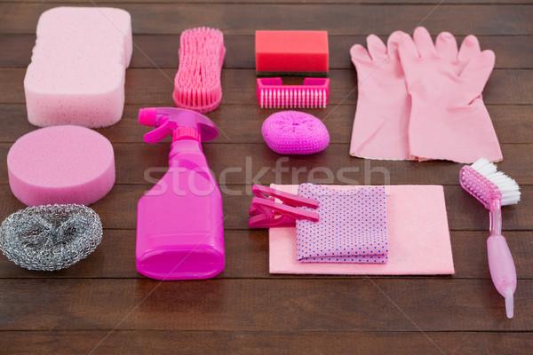 Roze kleur schoonmaken uitrusting Stockfoto © wavebreak_media