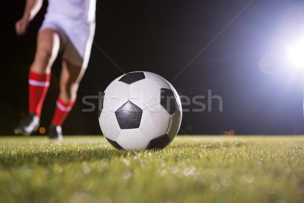 Niski sekcja piłkarz piłka dziedzinie gry Zdjęcia stock © wavebreak_media
