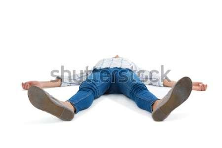 Mujer blanco inconsciente teléfono éxito femenino Foto stock © wavebreak_media