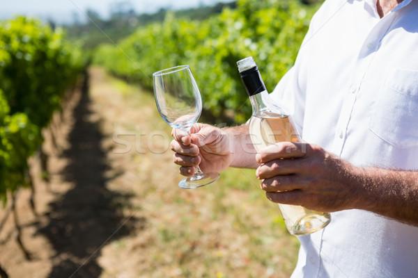 Mid section of vintner examining wine Stock photo © wavebreak_media