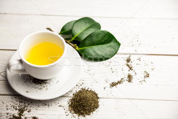 Cup of herbal tea on table Stock photo © wavebreak_media