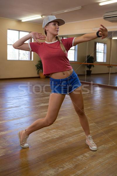 Full length of dancer rehearsing in studio Stock photo © wavebreak_media