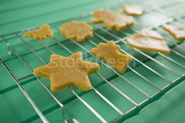 Close up of cookies on cooling rack Stock photo © wavebreak_media