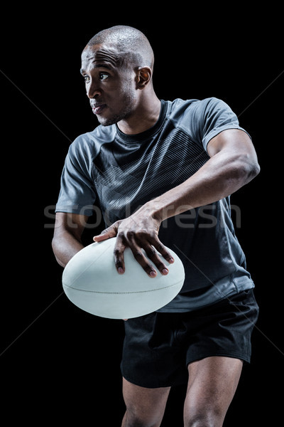 Bestimmt Rugby Spieler Position Ball Stock foto © wavebreak_media