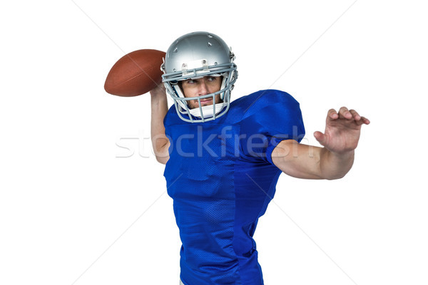 American football player throwing ball Stock photo © wavebreak_media