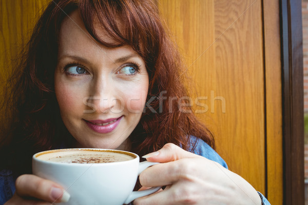 Mature student having coffee in cafe Stock photo © wavebreak_media