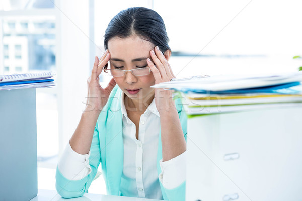 Stressed out business woman Stock photo © wavebreak_media
