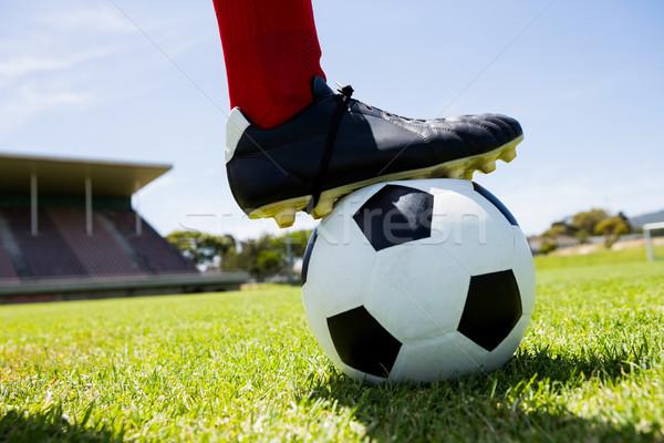 Futbolista pie pies pelota estadio hombre Foto stock © wavebreak_media