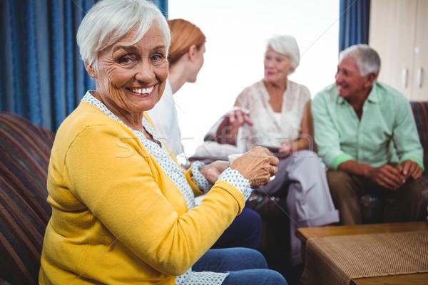 Senior persons and a nurse Stock photo © wavebreak_media
