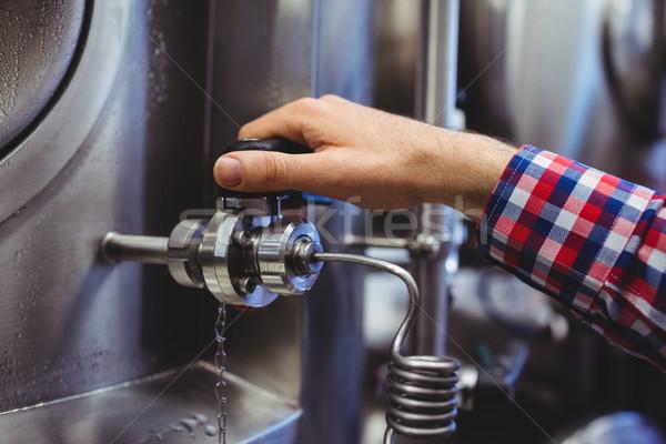 男 開設 バルブ 機械 画像 ビール ストックフォト © wavebreak_media