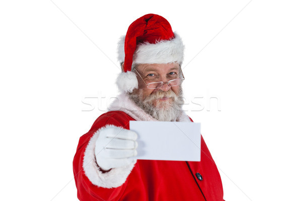 Portré mikulás tart plakát karácsony idő Stock fotó © wavebreak_media
