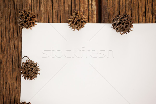 Pin frontière blanche dessin papier table en bois Photo stock © wavebreak_media