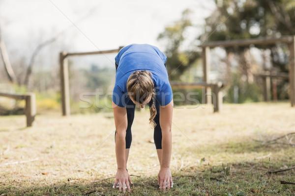 Fitt nő testmozgás csizma tábor fitnessz Stock fotó © wavebreak_media