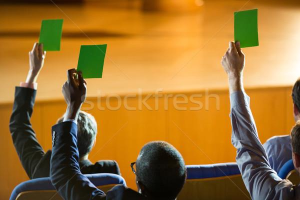 вид сзади бизнеса шоу утверждение рук Сток-фото © wavebreak_media