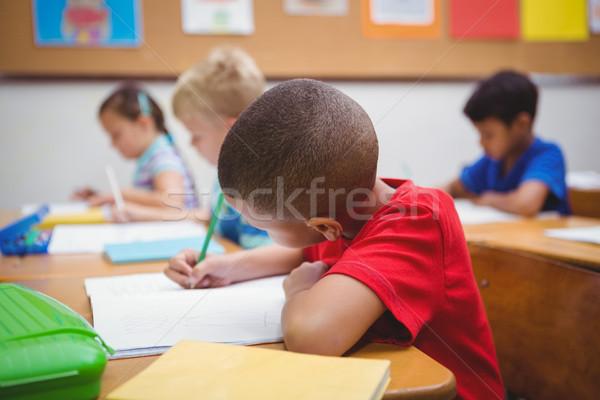 Ocupado estudiantes de trabajo clase trabajo lápiz Foto stock © wavebreak_media