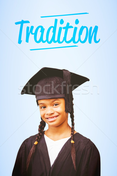 Tradition bleu enfant graduation numérique Homme Photo stock © wavebreak_media