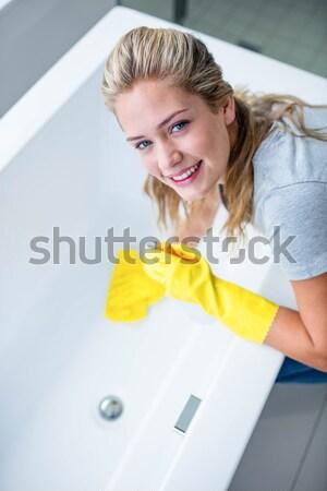 очистки ванны губки работу интерьер Сток-фото © wavebreak_media