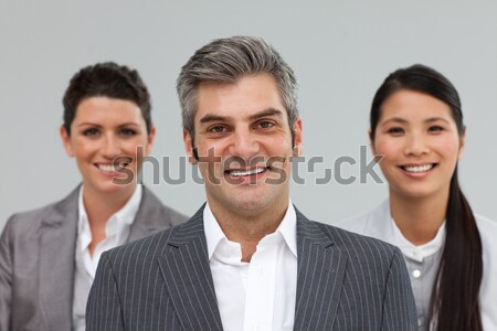 улыбаясь бизнесмен ведущий коллеги женщины человека Сток-фото © wavebreak_media