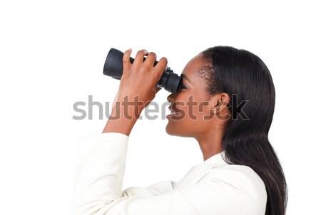 деловая женщина глядя будущем изолированный белый служба Сток-фото © wavebreak_media