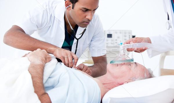 Komoly orvos beteg kórház orvosi szív Stock fotó © wavebreak_media