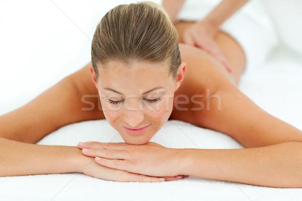 Memnun kadın masaj spa Stok fotoğraf © wavebreak_media