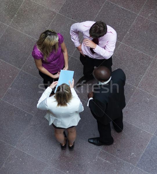 Gente de negocios hablar oficina negocios Foto stock © wavebreak_media