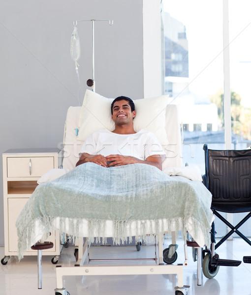 молодые пациент кровать Hispanic больницу женщины Сток-фото © wavebreak_media