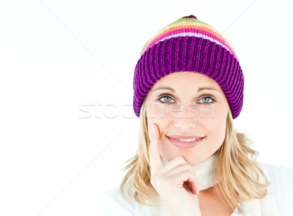 Thoughtful woman looking at the camera in the winter Stock photo © wavebreak_media