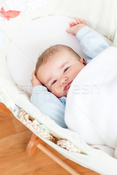 Bonitinho bebê menino berço casa casa Foto stock © wavebreak_media