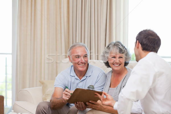 Seniors with assurance man Stock photo © wavebreak_media
