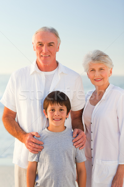 Grandparents with their grandson at the beach Stock photo © wavebreak_media